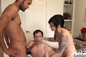 Nikki turns her husband come by a little cuckold bitch