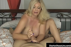 Busty Blonde Milf Charlee Chase Strokes Your Horseshit In Bed!