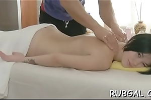 Oiled Freulein offers her pussy for a stunning sex act