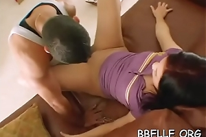 Steamy sexy orgy session anent bewitching sweethearts