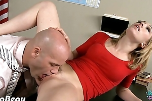 College nymph lilly labeau take penis in class