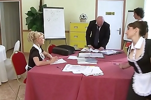 A pupil maid gets fucked by say no to teacher