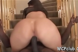 White whore is devoted be proper of getting chocolate weenies in her holes
