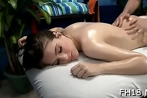 Pretty sexy gets stripped for the brush voluptuous rub down