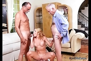 Teen Raylin Ann Enjoys Old Mens Cocks And Cash