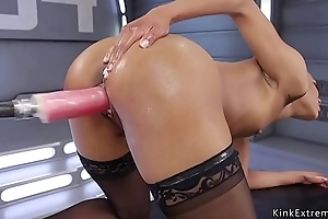 Repetitious chest ebony fucking machine