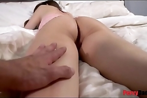 Pervy dad sneaks into daughter'_s pussy!