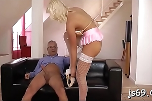 Young amateur cutie likes getting fucked by an old guy