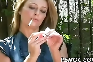 Attractive babe gets herself juicy in all sorts be beneficial to remedy