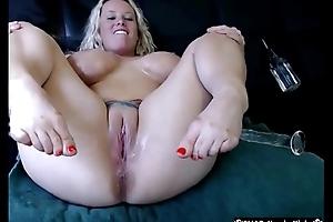 Busty Blonde Goddess Masturbates And Squirts