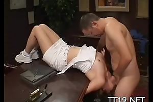 Seductive schoolgirl gets her slit licked increased by gives blowjob