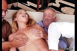 Teen Raylin Ann Has Her Pussy Fingered By Old Males