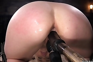 Comme ci slave gets dick on a stick