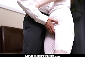 Cute Teen Mormon Girl Connected with Obese Natural Tits Julie Snow Fucked By Athletic Young Mormon Guy
