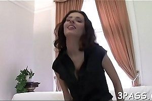 Hot as a hell babe in stockings get snatch screwed as a result substantially