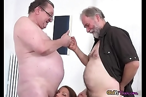 Teen Riana G Gets Reciprocal By Pervy Old Ragtag