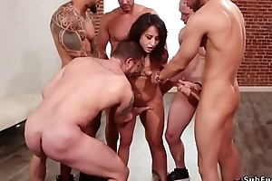 Gangbang and anal having it away yon bdsm orgy