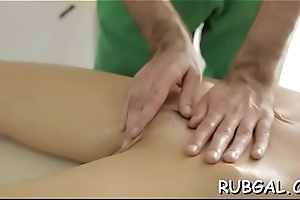 Nasty cutie loves perverted style of massage mixed with sex
