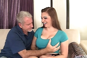 Big boobed jessica roberts takes dong