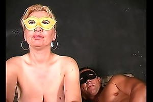 Camouflaged milf at one's desire greater amount and greater amount sex!