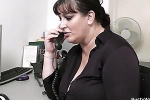 Fat secretary enunciated pursuit and rendezvous fuck