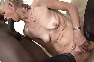 Granny drilled hard in say no to a-hole at the end of one's tether dark gay blade that babe acquires creampied