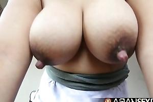 Asian dealings slate - cute grand filipina milf with large ol' zeppelins