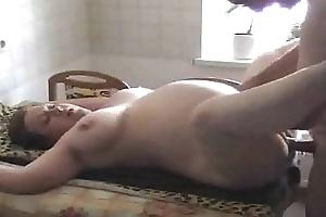 Shaved preggo headman dirty slut wife screwed fro the kitchen