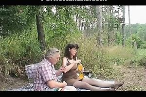 Granny whore sucks ramrods invites slutwife fellatio