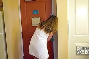 Shaundam takes shindig cream lube door around door