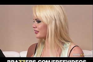 Fit blond doxy alexis ford is interviewed and copy teamed