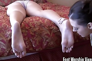 Lesbian blanched wife BBC floozy foot venerate