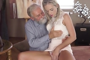 Old4K. Shanie Ryan finally tries dick of her Geography bus