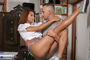 Fun loving redhead Veronica Leal enjoys a fun game of inveigling that leaves her horseshit craving pussy drumming almost wonder