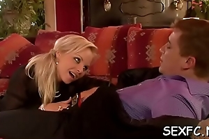 Pert babe exalt a difficulty pecker in their cramped pussies